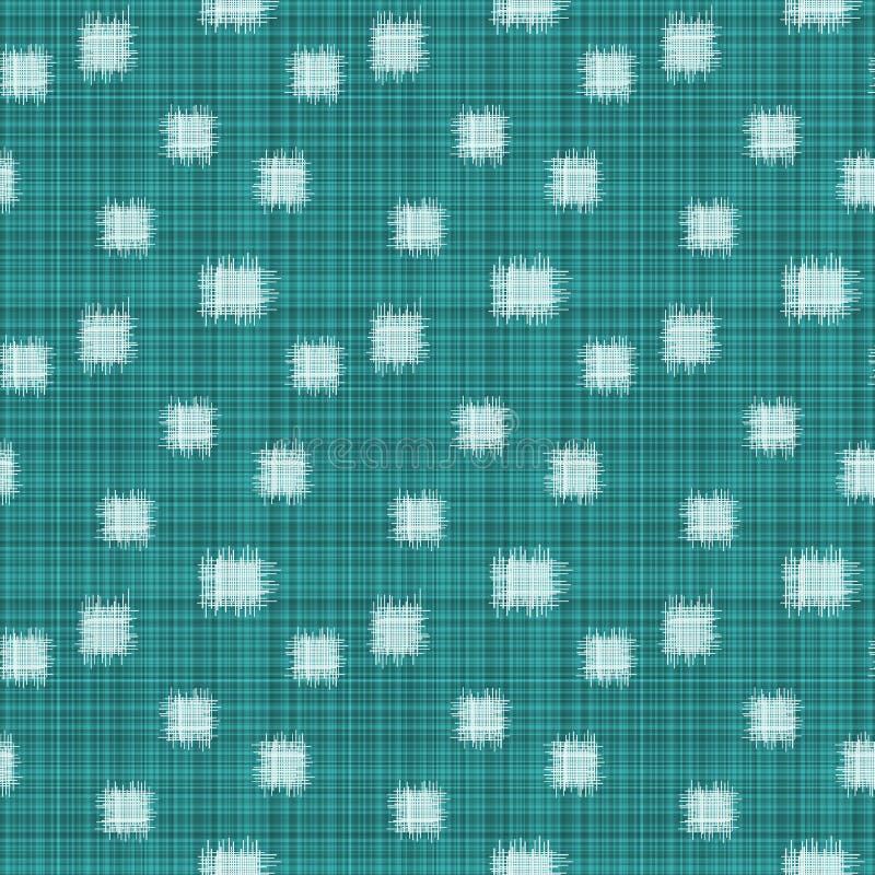 Aqua Ikat Lines Seamless Texture royalty-vrije illustratie