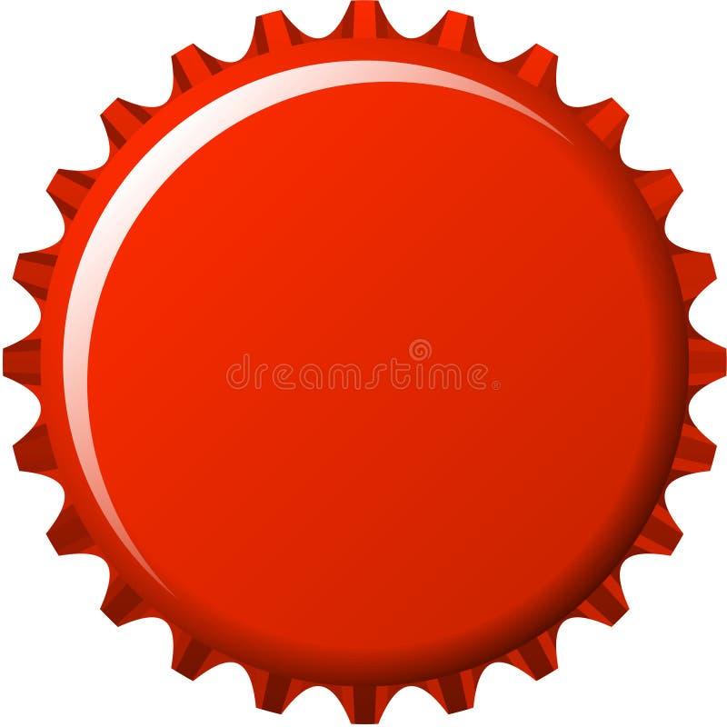 aqua knoop in rode kroonkurk royalty-vrije illustratie