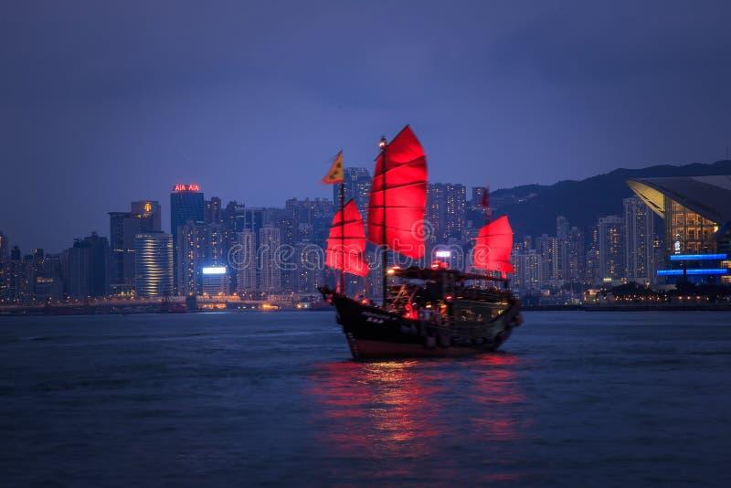 Aqua Luna Boat en Hong Kong fotos de archivo