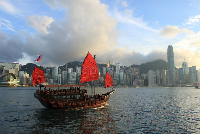 Aqua Luna, Victoria Harbour, Hong Kong stock afbeeldingen