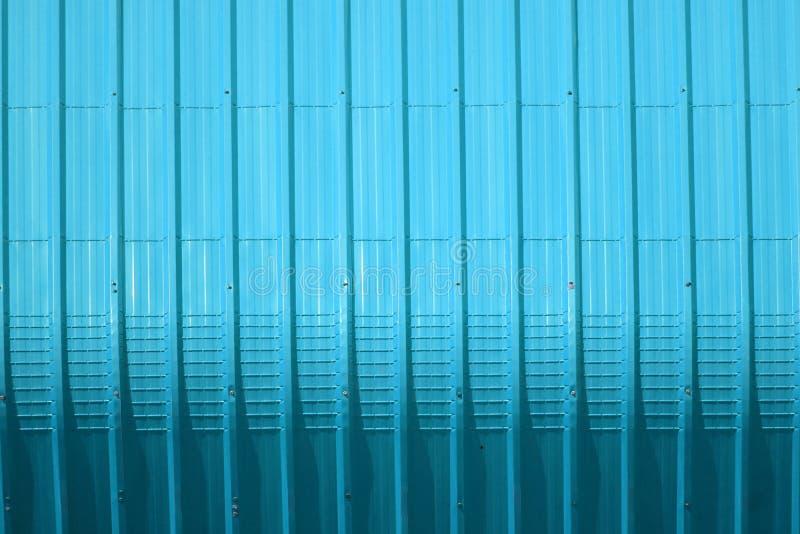 aqua metal sheet pattern and vertical line design royalty free stock image