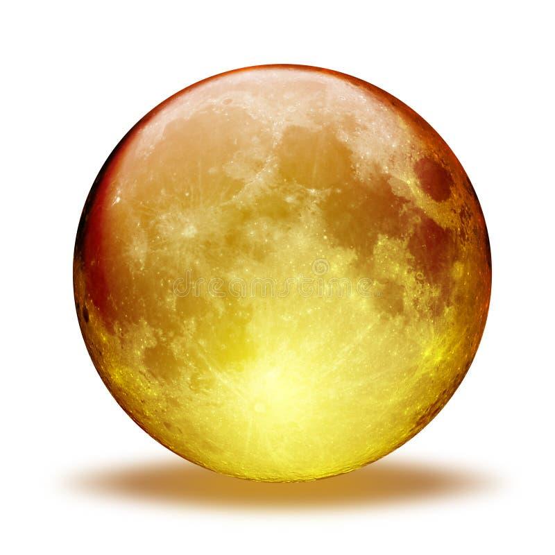 Aqua Moon. Orange aqua moon