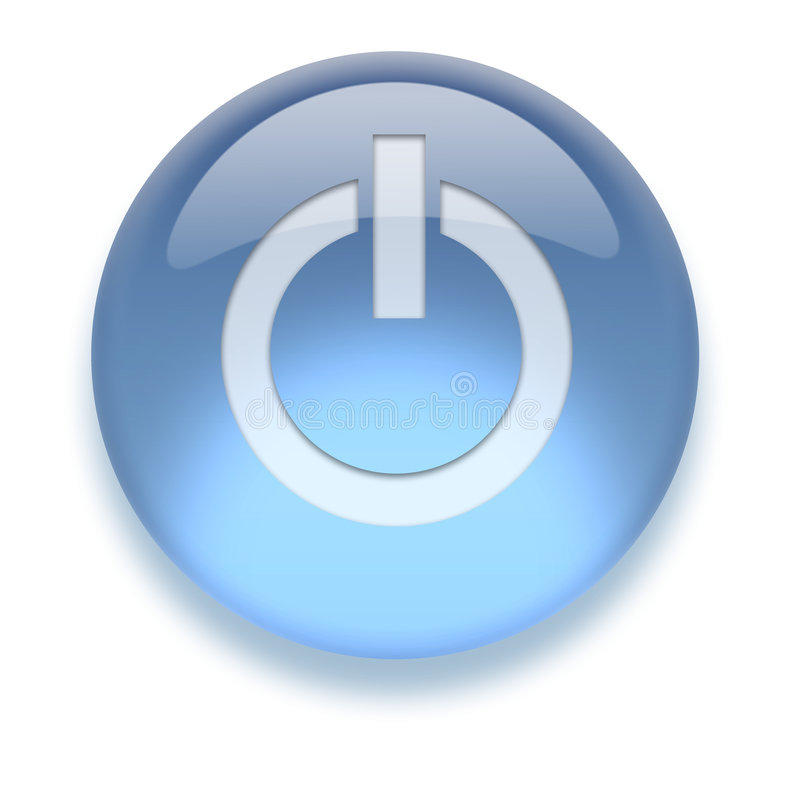 Download Aqua On/Off Icon stock illustration. Image of button, power - 4146521