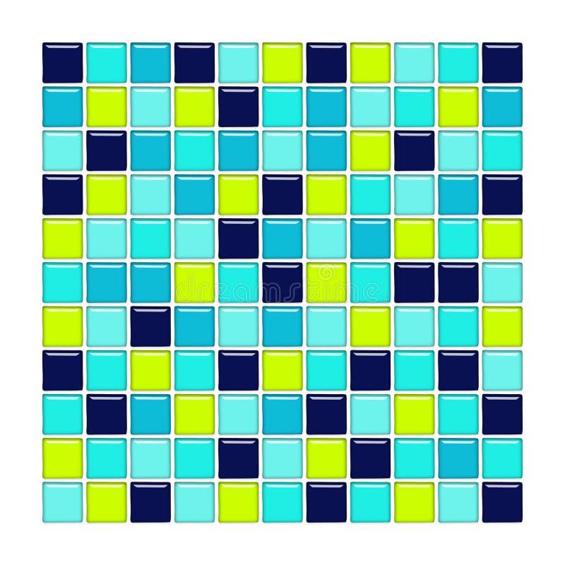 aqua okulary zielone niebieskie płytki ilustracja wektor