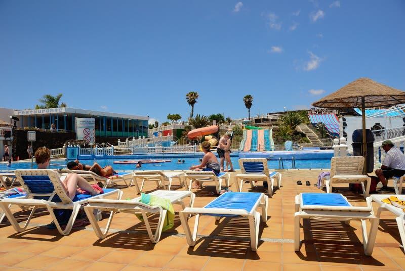 Aqua Park Costa Teguise, Lanzarote immagine stock libera da diritti
