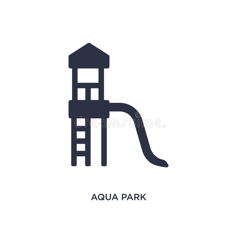 Aqua park icon on white background. Simple element illustration from summer concept. Aqua park isolated icon. Simple element illustration from summer concept royalty free illustration