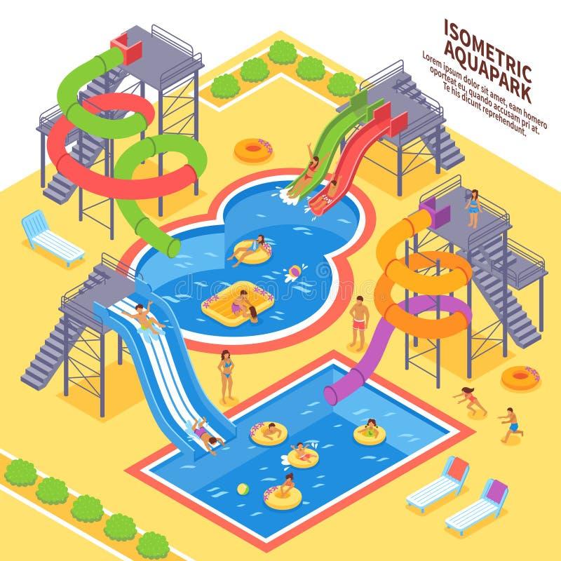 Aqua Parkowa ilustracja ilustracja wektor