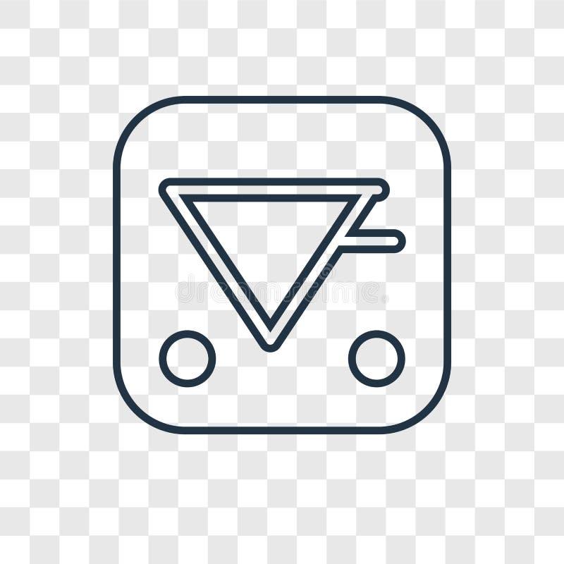 Aqua pojęcia wektorowa liniowa ikona odizolowywająca na przejrzystym backgrou royalty ilustracja