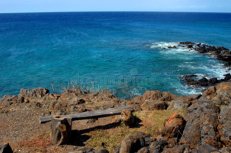 Aqua in profondità sulla grande isola fotografia stock