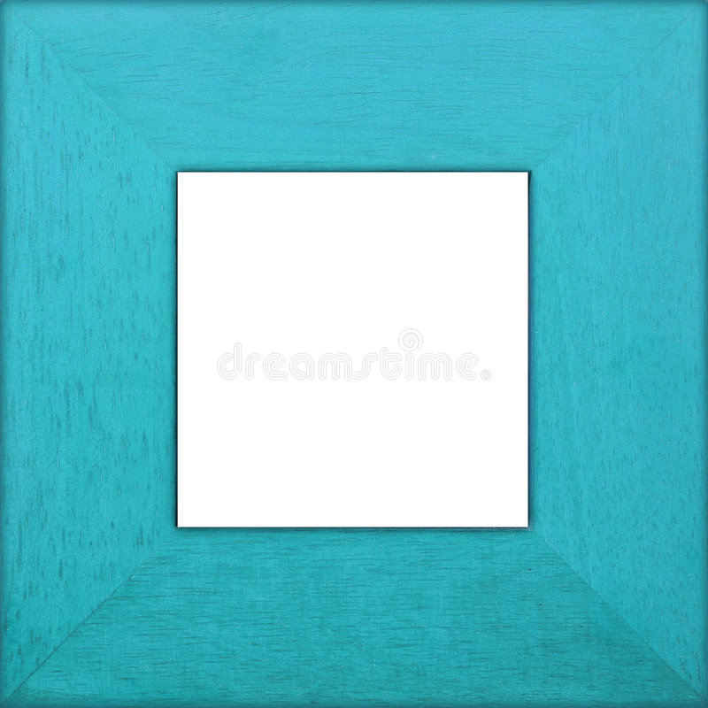 aqua ramy kwadrat drewna zdjęcie stock