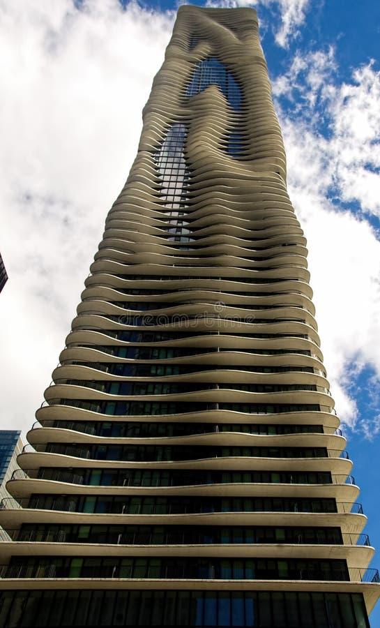 Aqua Skyscraper stockbilder