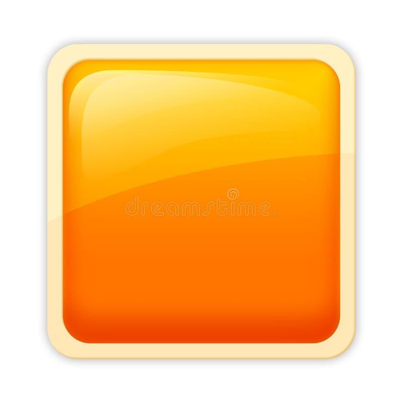 Aqua style - flame hue. Visually appealing, free of emblem aqua style button royalty free illustration