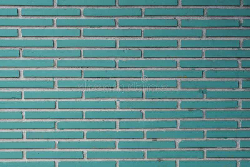 Aqua Tile Bricks avec la texture blanche de coulis images stock