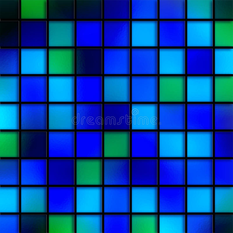 Aqua Tiles bleue illustration libre de droits