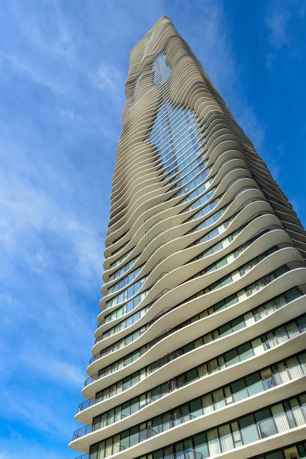 Aqua Tower in Chicago, Illinois, U.S.A. immagini stock