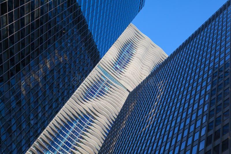 Aqua Tower em Chicago foto de stock