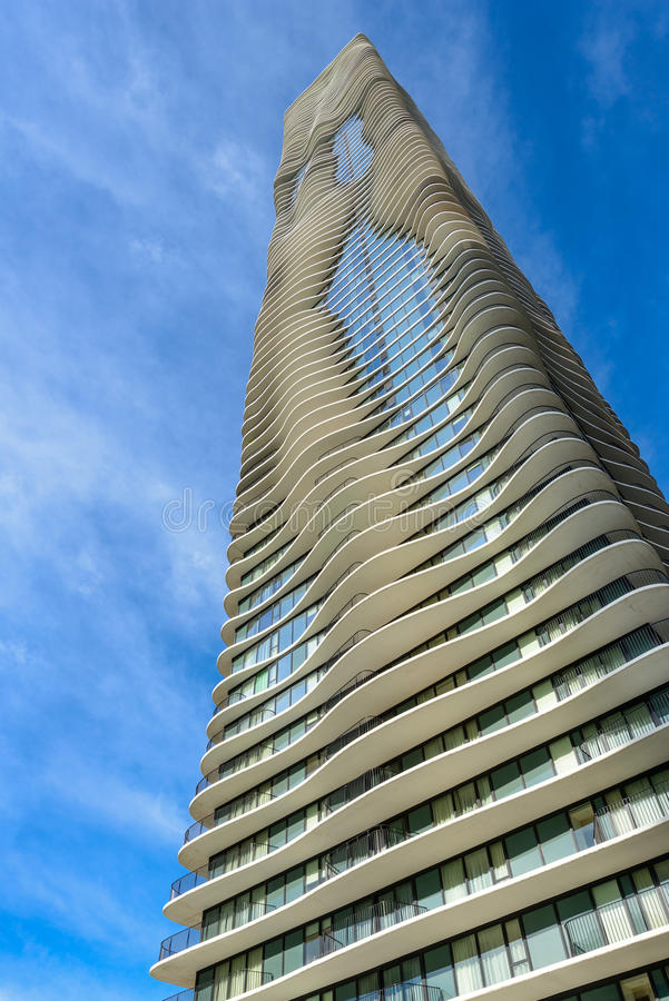 Aqua Tower em Chicago, Illinois, EUA imagens de stock
