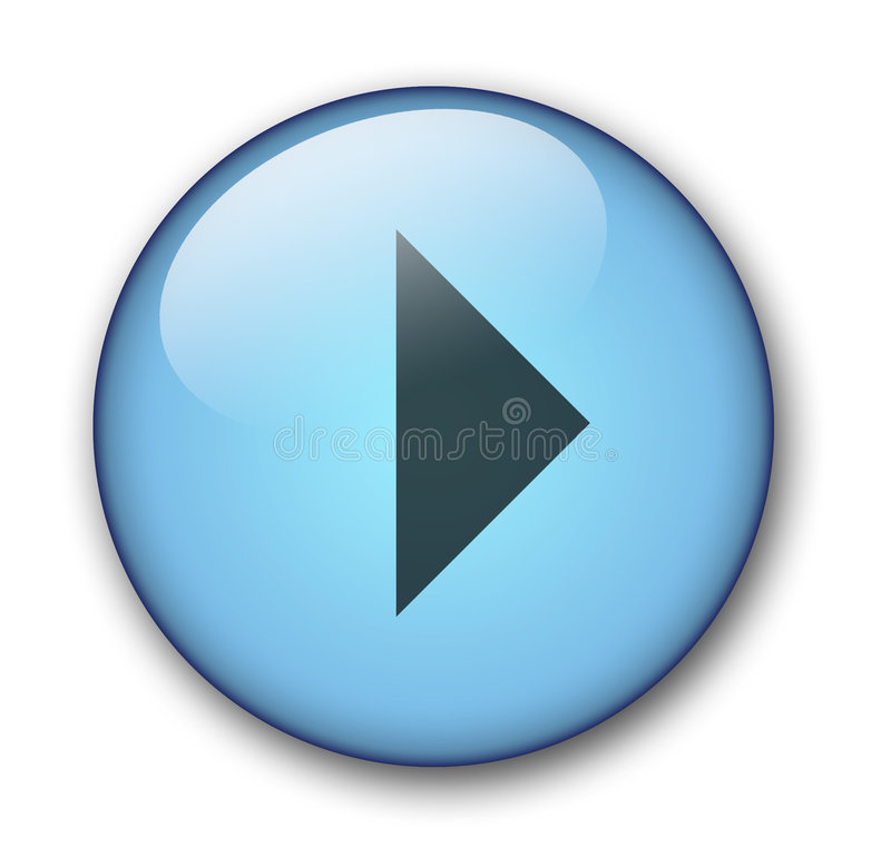 Aqua web button stock photography