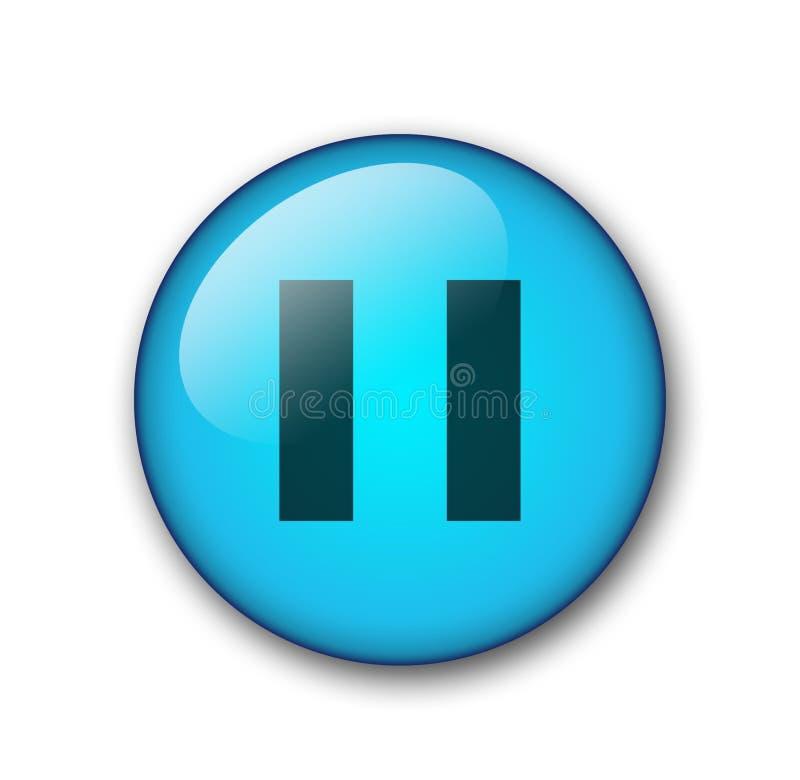 Aqua web button stock illustration