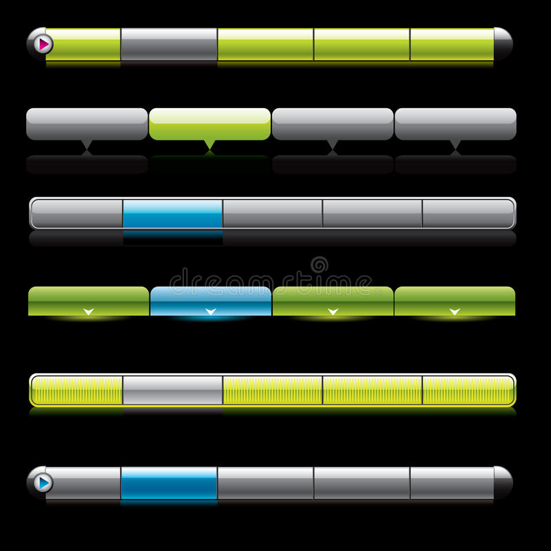 Download Aqua Web Navigation Templates. Stock Vector - Image: 10583685