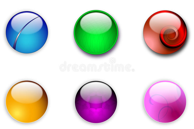 Aqua web round buttons stock illustration