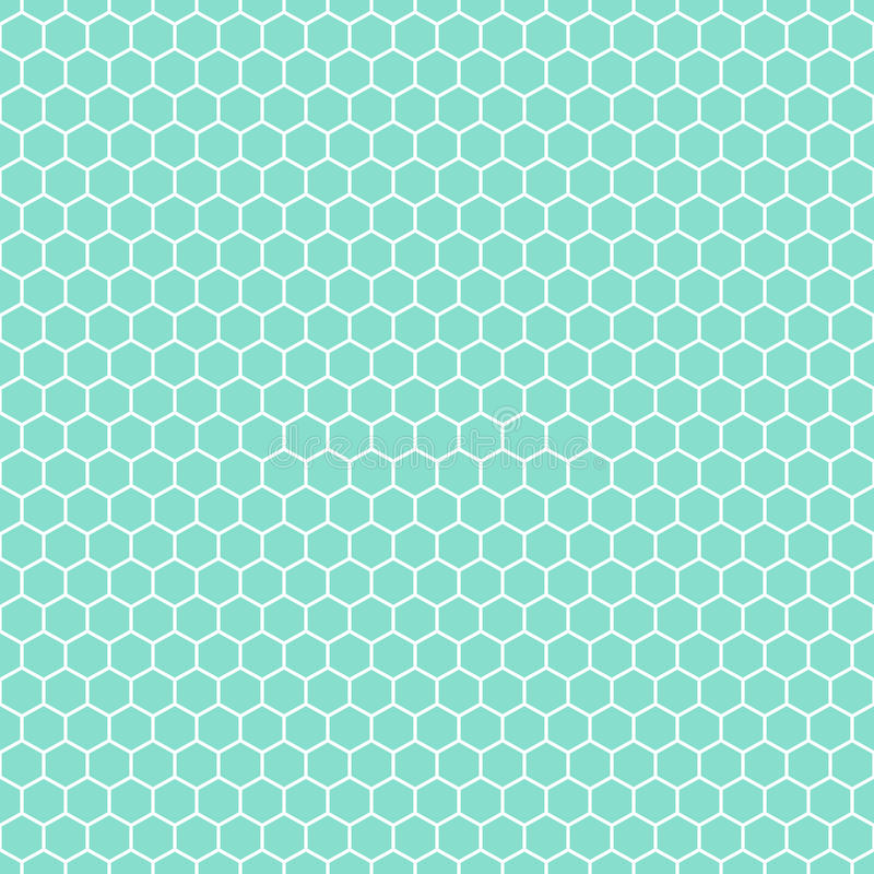 Aqua & white hexagons pattern, seamless texture background royalty free stock photos