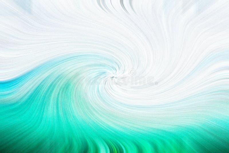 Aqua and white swirled background, wave-like vector illustration