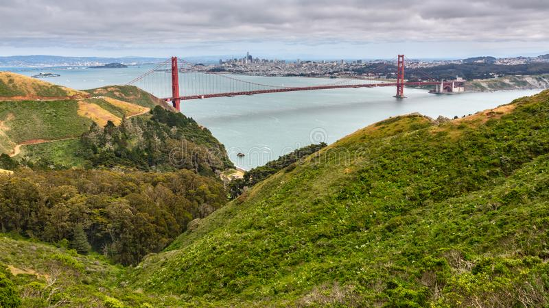 Aqua Wodny Golden Gate Bridge zdjęcia royalty free