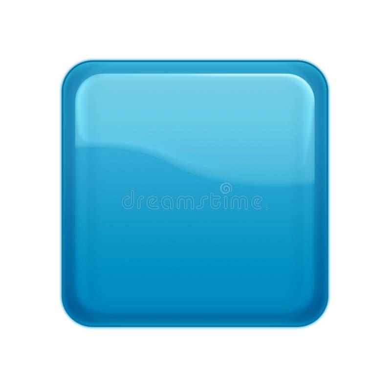Aquaartweb-Taste vektor abbildung