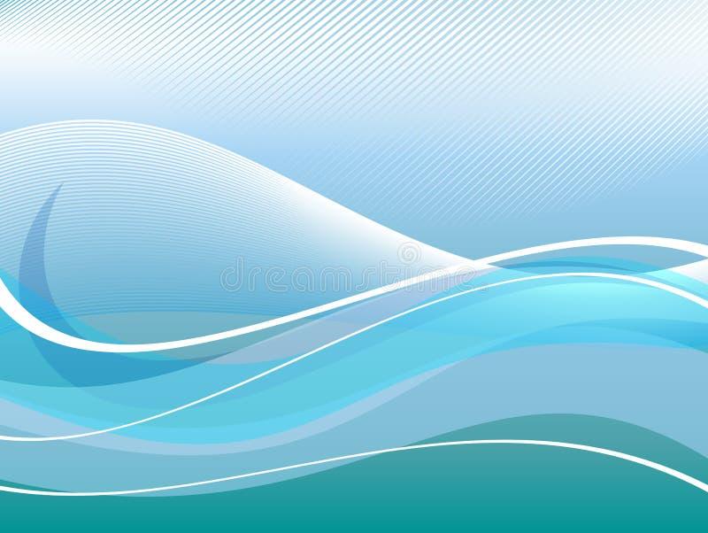 aquabakgrund royaltyfri illustrationer