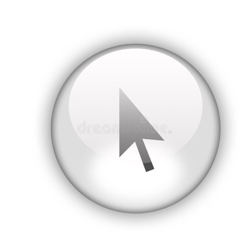 Aquabutton de la flecha fotografía de archivo libre de regalías