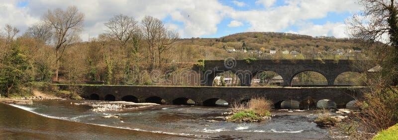 Aquaduct de Aberdulais em Gales foto de stock