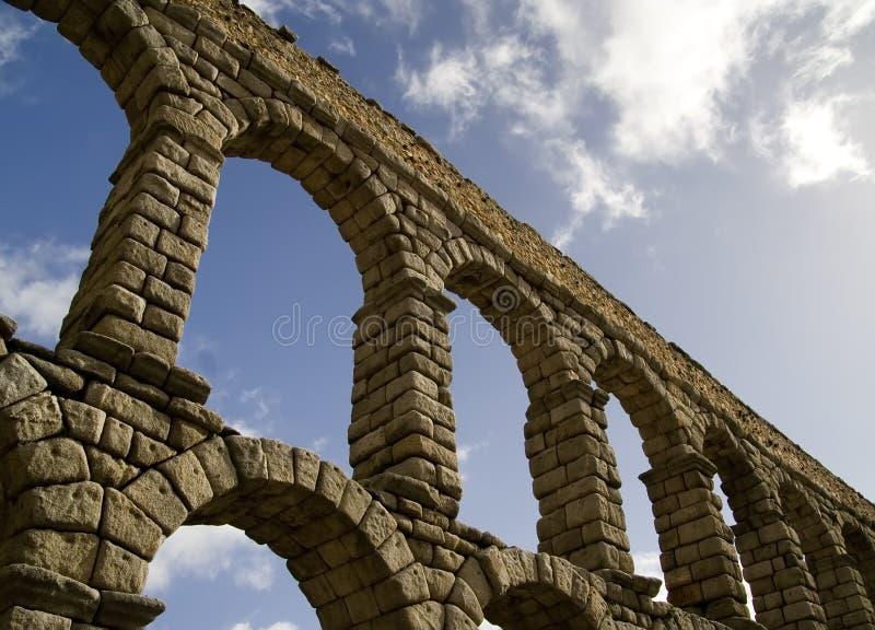 Aquaduct de Segovia 2 fotografía de archivo libre de regalías