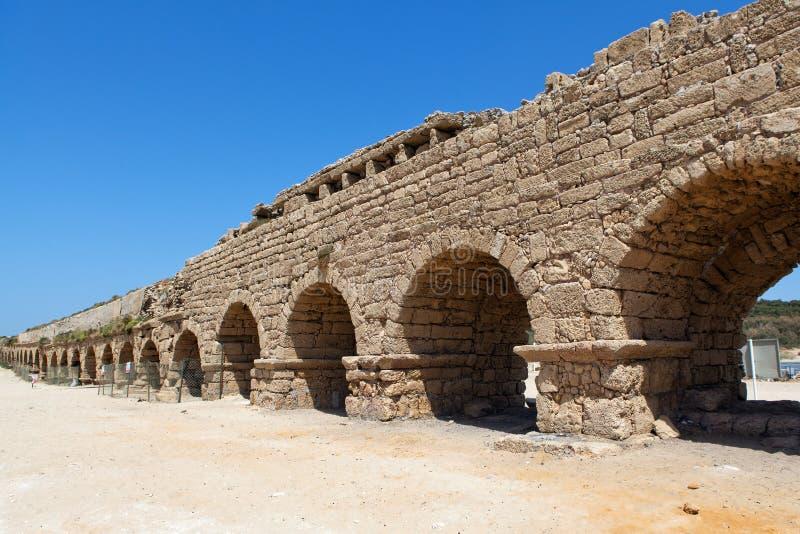 Aquaduct in het Heilige Land stock foto