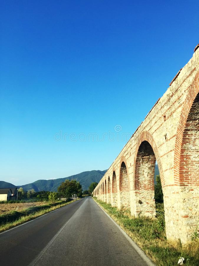 Aquaduct lucca royalty free stock images