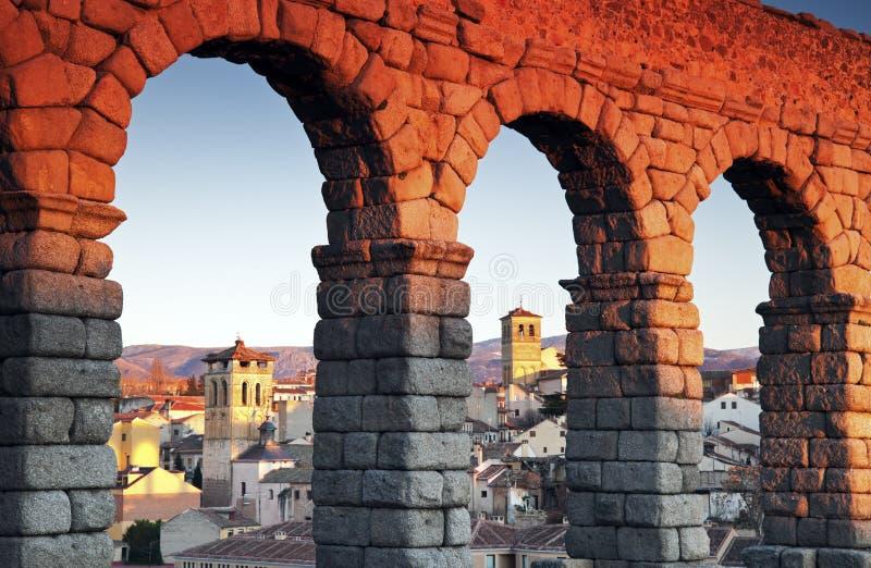 Aquaduct in Segovia royalty-vrije stock foto's