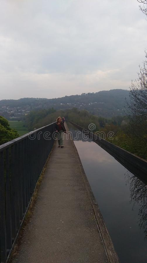 Aquaduct smalle mening stock foto's