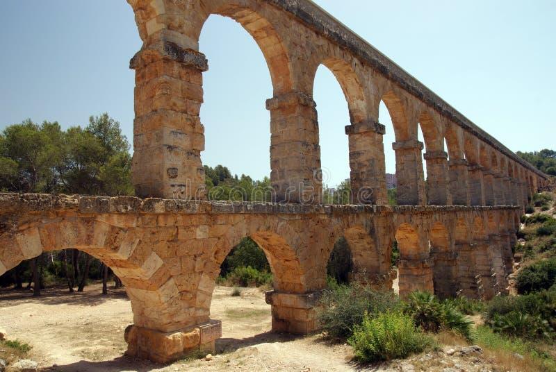 Aquaduct in Tarragona royalty-vrije stock afbeelding