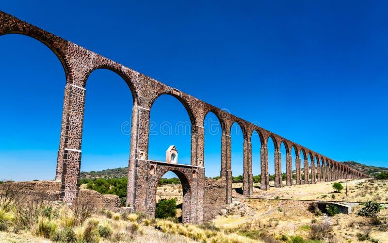 Aquaduct van Aalmoezenier Tembleque in Mexico royalty-vrije stock foto