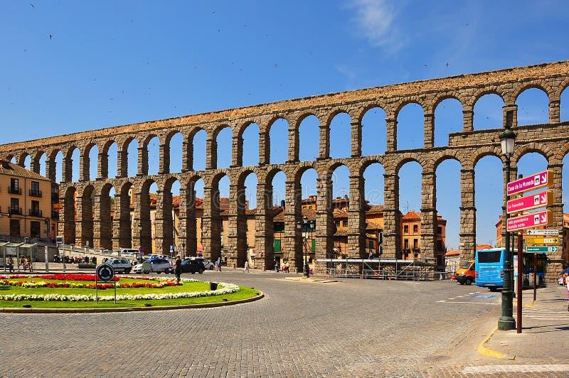 Aquaduct van Segovia, Spanje royalty-vrije stock fotografie