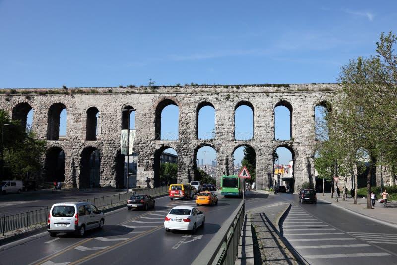 Aquaduct van Valens in Istanboel royalty-vrije stock foto