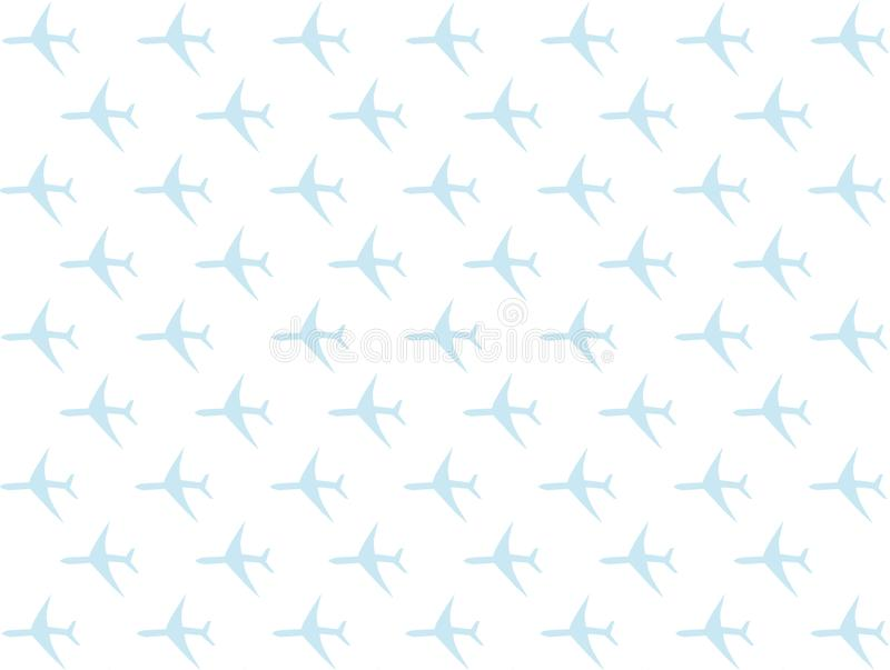 Aqualos-Bühnenbildbasis des flachen Elements der Reisesymbolflugzeugikone hellblaue auf weißem Hintergrund vektor abbildung