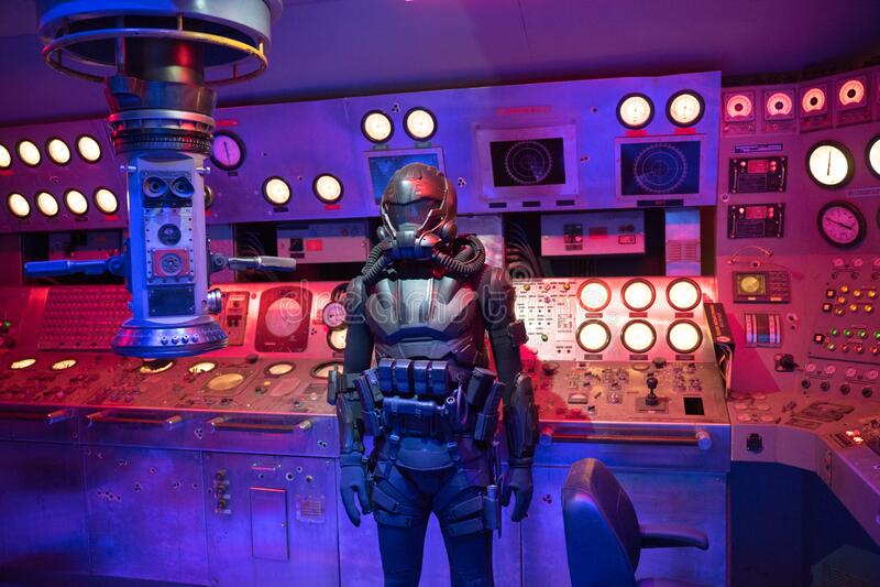 Aquaman Movie Exhibition Villain Soldier stock images