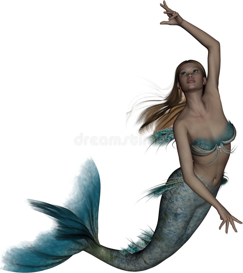 aquamarina美人鱼 向量例证