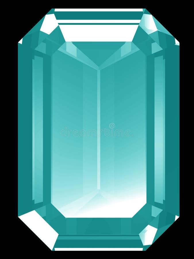 Aquamarine 3d ilustração stock