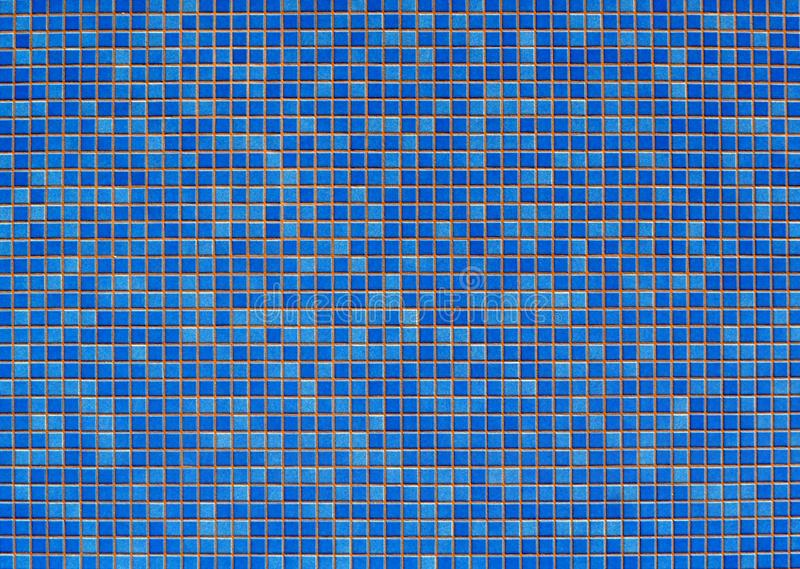 Aquamarine and  blue mosaic tiles. Background and texture, copy space royalty free stock photos