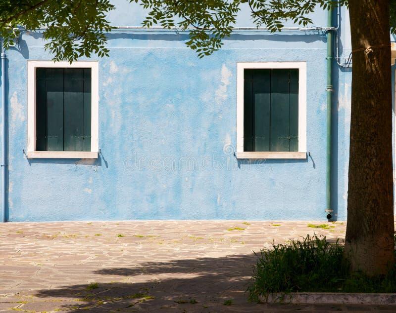 Aquamarine colored house royalty free stock image