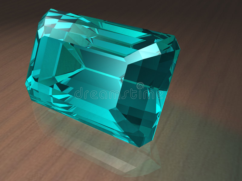 Aquamarine gemstone. Birthstone for March- Aquamarine royalty free stock images