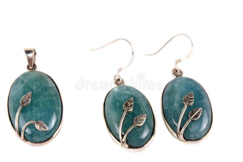 Aquamarine Jewelery foto de archivo