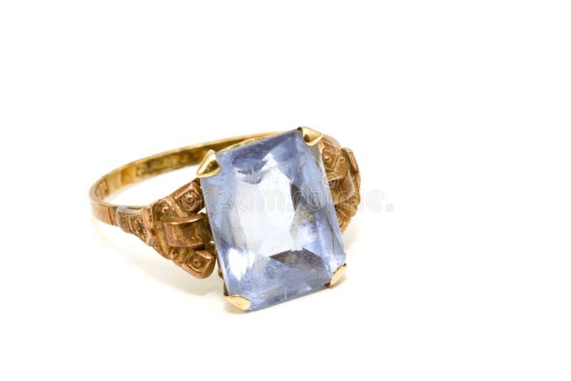 Aquamarine ring royalty free stock photography